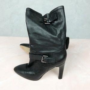 Via Spiga Black High Heeled Boots